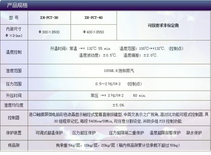高温高压高湿老化测试仪选型表