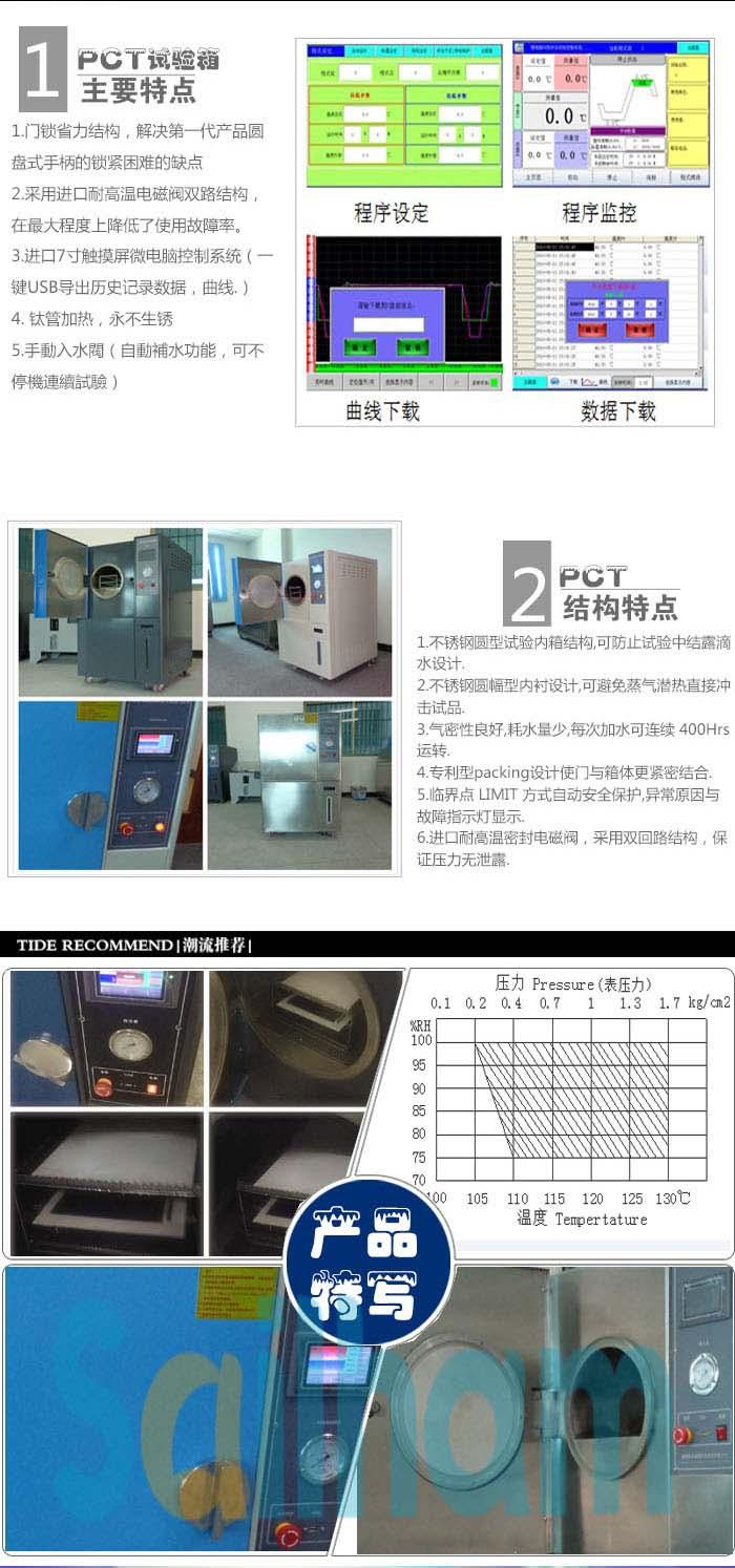 高温高压高湿老化测试仪细节特写介绍